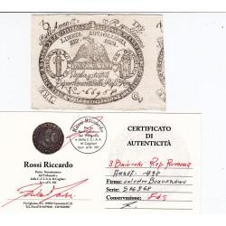 3 BAIOCCHI REPUBBLICA ROMANA ANNO 7 1798