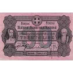 Banca Agricola Sarda 30 Lire 1879