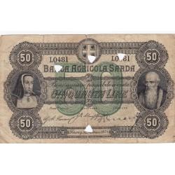 Banca Agricola Sarda 50 lire 1871