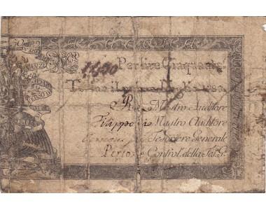 REGIE FINANZE 50 LIRE PER LA SARDEGNA 1780  emesso e circolato