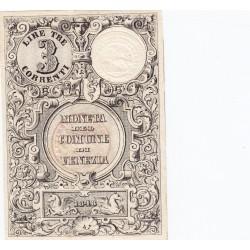 VENEZIA 3 LIRE CORRENTI 1848