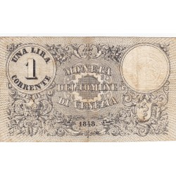 VENEZIA 1 LIRA CORRENTE 1848