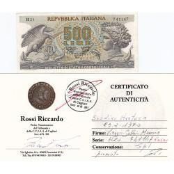 500 LIRE ARETUSA 23.2.1970 numeri di serie RADAR