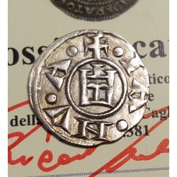 GENOVA 1133-1333 MEZZO DENARO O MEDAGLIA   VARIANTE  SPL