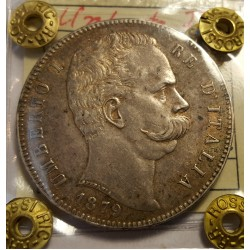 UMBERTO I  5 LIRE 1879 SPL