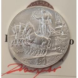 1 LIRA 1913  qFDC