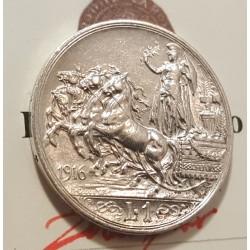 1 LIRA 1916 PERIZIATA SPL/FDC