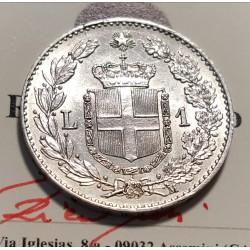 1 LIRA 1887  FDC