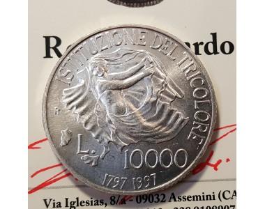 10000 LIRE  1997 ANNIVERSARIO DEL TRICOLORE