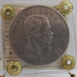 Vittorio Emanuele II 5 LIRE 1872