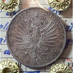 1 LIRA 1901  qFDC