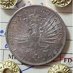 1 LIRA 1906 SPL/FDC