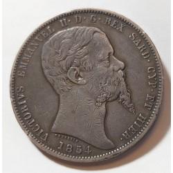 Regno di Sardegna 5 Lire 1854 Torino
