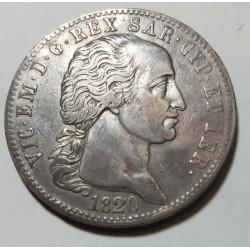 VITTORIO  EMANUELE I 5 LIRE 1820