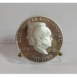 USA 1$ one Dollar 1990 W West Point Dwight David Eisenhower