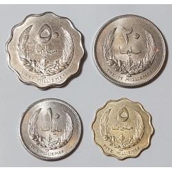 LIBYA 1965 5  10  20  50  MILLIEMES