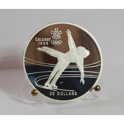CANADA 20 DOLLARI 1987 OLIMPIADI INVERNALI 1988