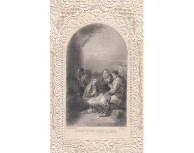 SIDEROGRAFIA L'ADORAZIONE DEI PASTORI 1865